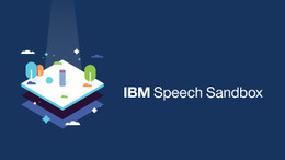 IBM Speech Sandbox